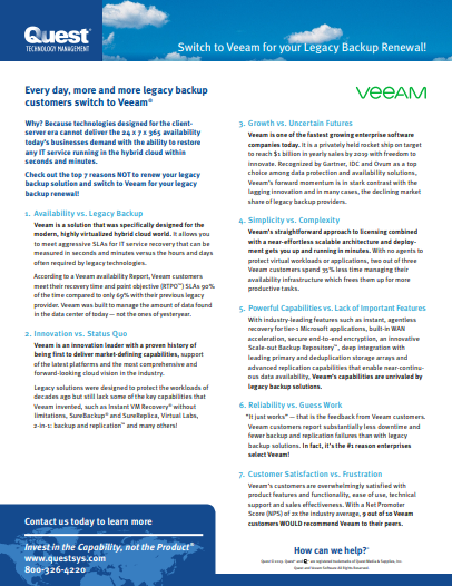 7 Reasons To Switch To Veeam